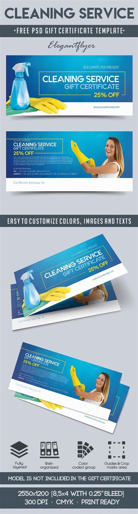 Cleaning Services Bi Fold Template By Elegantflyer Cleaning Service Free Gift Certificate Psd Template By