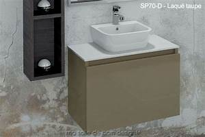 lavabo ceramique sur plan en solid surface integre a un With salle de bain design avec meuble lavabo wc