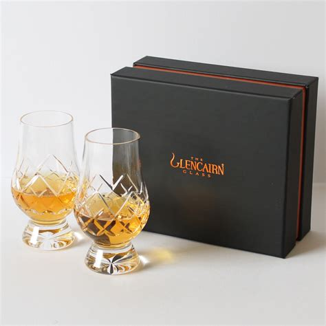 Whiskey Glas Kristall by Glencairn Official Cut Whisky Glass Set Of 2