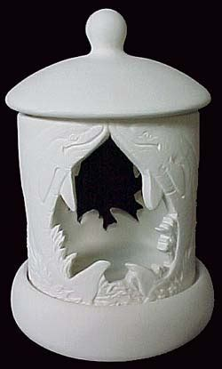 Dolphin 'Cut Out Candle Lantern' with Base and Top