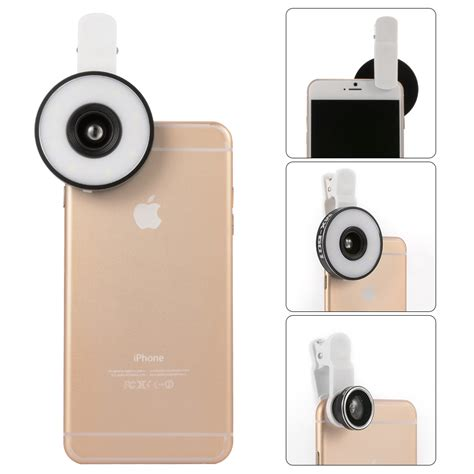 flash for iphone universal selfie portable flash led fill in ring
