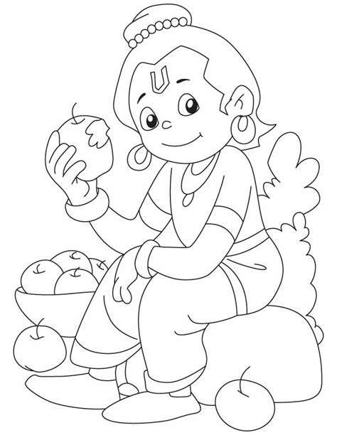 krishna face coloring coloring pages