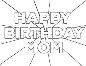 printable birthday coloring pages  kids printable coloring pages  print