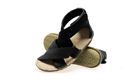 vegan sandal po zu salome black avesu vegan shoes
