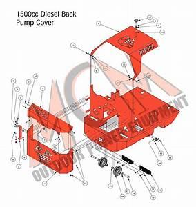 Bad Boy Mower Part  2016 Diesel Back Pump Cover