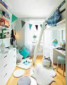 Teenager Zimmer Junge : einrichten kinderzimmer junge wei aqua hochbett schreibtisch unten kinderzimmer pinterest ~ Sanjose-hotels-ca.com Haus und Dekorationen