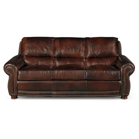 classic traditional brown leather sofa amaretto rc