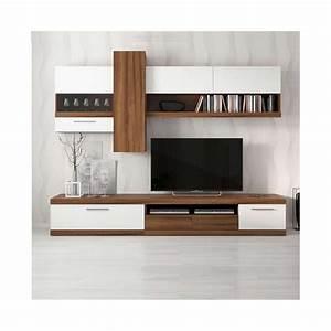 meuble tv miami blanc sejour meuble tv With petit meuble d entree design 5 meuble tv fox sejour meuble tv