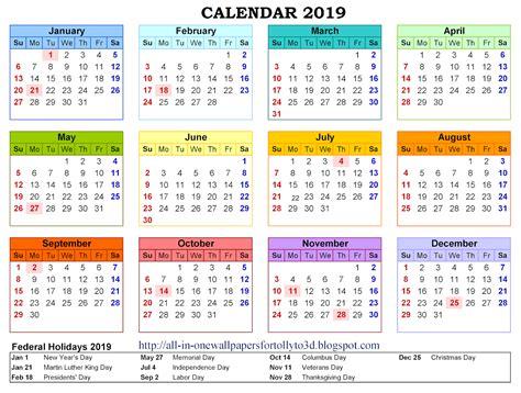 2019 Calendar Wallpapers