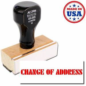 change of address rubber stamp walmartcom With change of address stamp