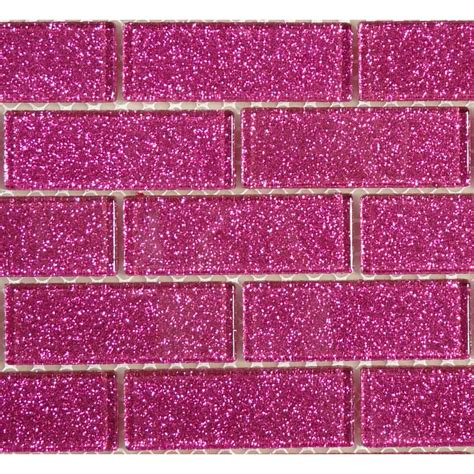 pink glass tile 1 x 3 pink glass brick tile glossy blgd507a