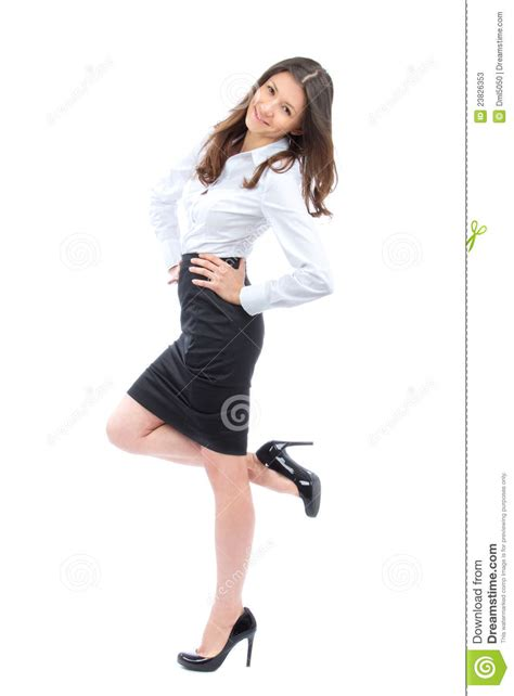 Young Full Body Business Woman Smiling Stock Photos   Image: 23826353