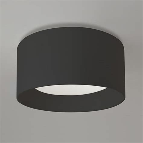 circular black flush fitting ceiling light for lighting