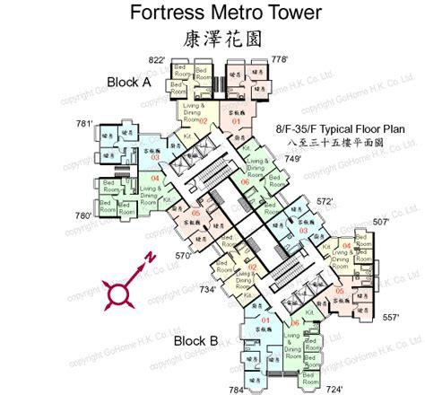 floor plan of fortress metro tower gohome com hk