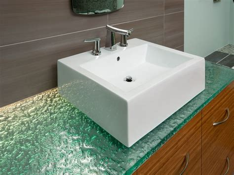 kitchen countertops and sinks 53 best glass bathroom countertops images on 4319