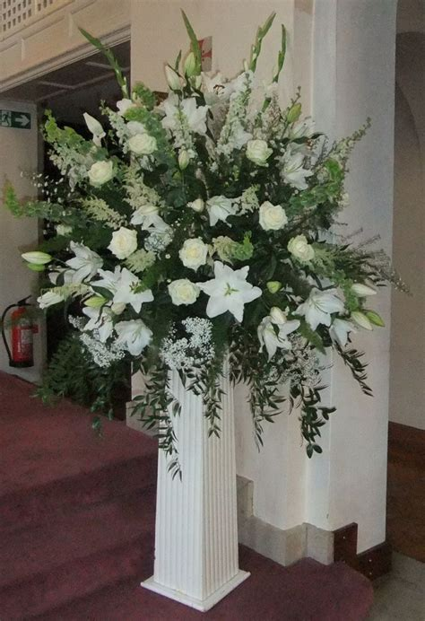 wedding pedestal flower arrangements google search