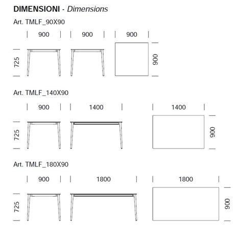 dimension table cuisine table pour bar et restaurant malmo pedrali