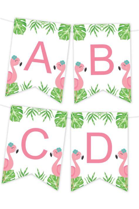 tropical flamingle flamingo printable banner chicfetti