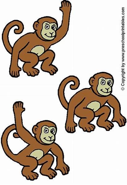 Felt Monkeys Board Story Stories Five Monkey