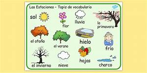 Spanish Seasons Word Mat