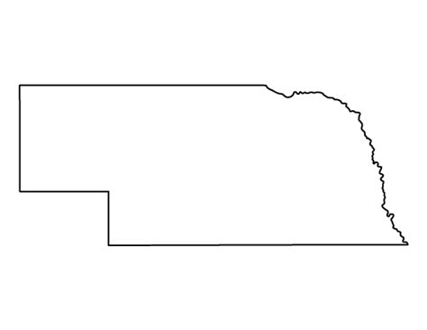 free string templates pdf nebraska pattern use the printable outline for crafts creating stencils scrapbooking and
