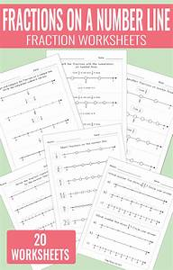 Fractions On A Number Line Worksheets  With Images
