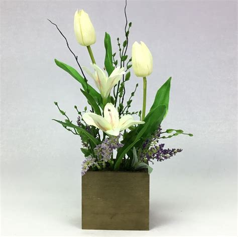 กระถางดอกไม้ประดิษฐ์ ดอกไม้ประดับตกแต่งบ้าน
