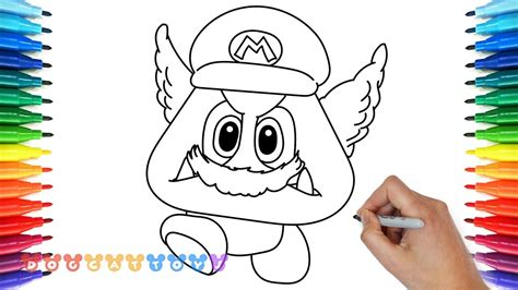 How To Draw Super Mario Odyssey Goomba #6