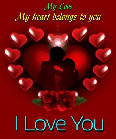 Heart Belongs Sweetheart Quotes Husband Greetings Hearts