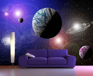 Galaxy Photo Wall Mural Wallpapers,Universe Stars, Space