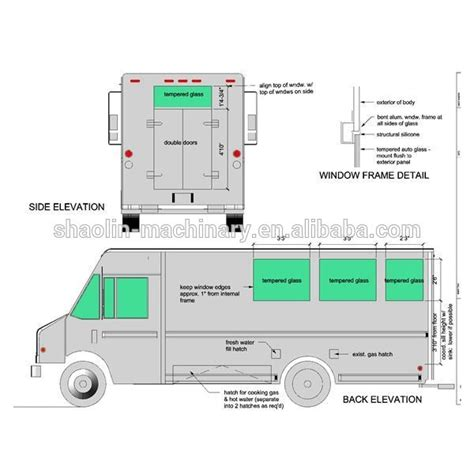 dimensions cuisine food truck dimensions food ideas