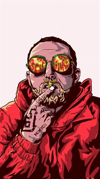 Vector Miller Mac Portrait Illustration Rip Rapper