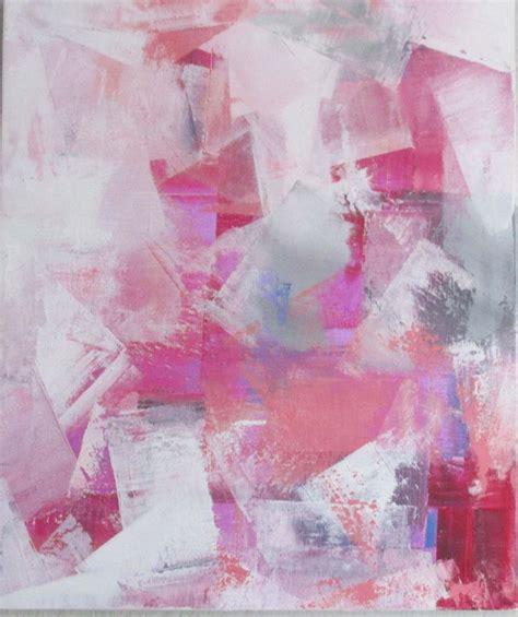 peinture moderne acrylique et mati 232 re blanc gris sur ch 226 ssis toile coton 55 x 46
