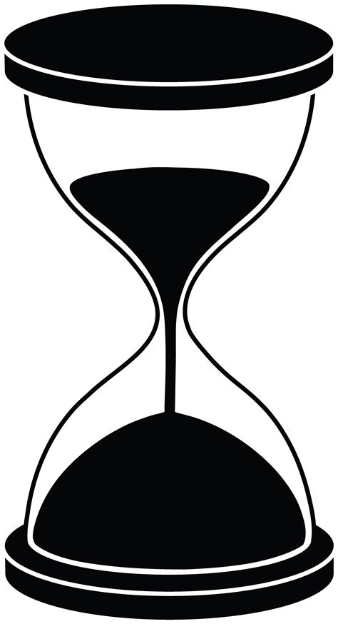 clipart hourglass silhouette