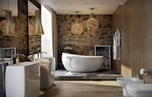 bad rustikal gestalten moderne wandgestaltung im bad 30 ideen und beispiele
