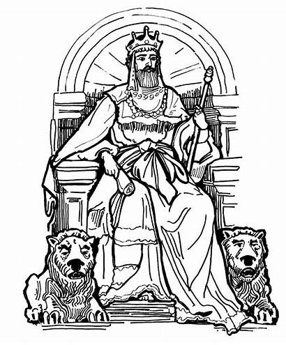 King Coloring Throne Pages Drawing David Queen