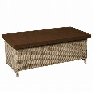 hampton bay lemon grove wicker outdoor trunk table d11230 With outdoor trunk coffee table