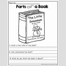 Parts Of A Book!  Classroom Printables Pinterest