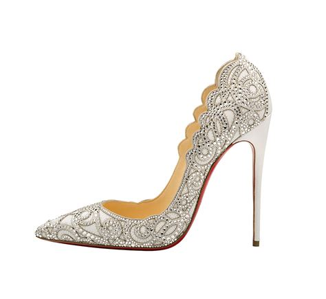 christian louboutin wedding shoes 30 metallic neutral and white wedding shoes flare 2919