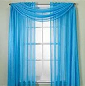 bright colorful kitchen curtains monagifts bright turquoise scarf voile window panel solid 4906