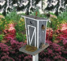 rustic bird outhouse