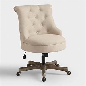 Natural Elsie Upholstered Office Chair World Market