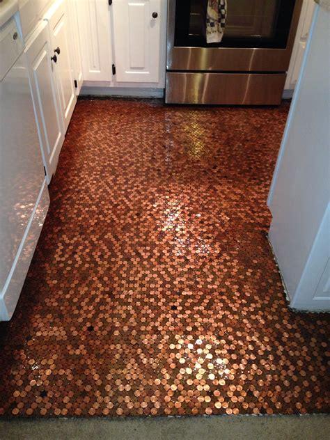 Kitchen Floor Of Pennies by My Floor My Floor Flooring Carpet