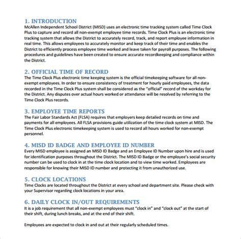Company Procedures Manual Template by 8 Sle Procedure Manuals Pdf Doc Sle Templates