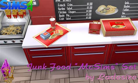 cuisine sims 3 my sims 4 ts2 to ts4 mcsims junk food set by ladesire