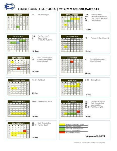 elbert county school district calendar publicholidaysus