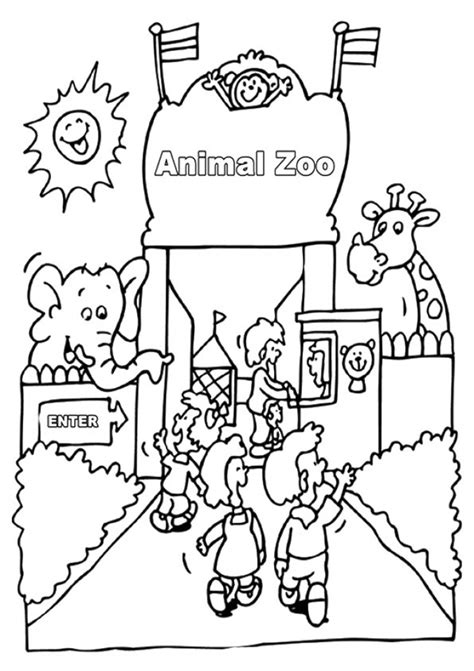 kids printable zoo coloring pages