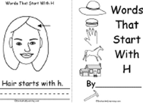 words that begin with the letter h letter h alphabet activities at enchantedlearning 26498