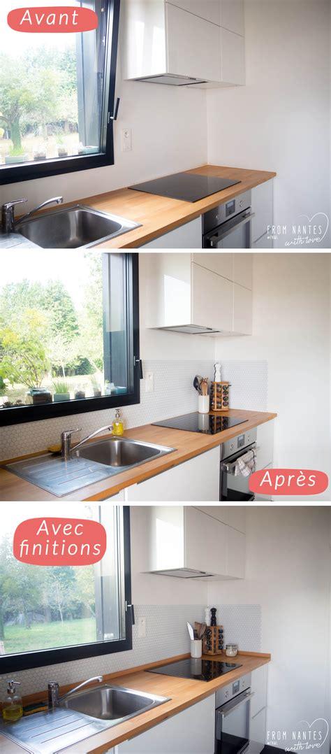 credence adhesive cuisine une crédence adhésive pour ma cuisine hexago de smart tiles