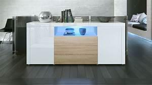 Tv Sideboard Weiß : sideboard tv board anrichte kommode santiago in wei hochglanz naturt ne ebay ~ Markanthonyermac.com Haus und Dekorationen